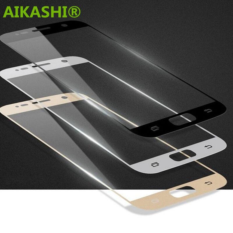 Premium 9 H Penuh Tertutup Anti Gores Tempered Kaca Screen Protector untuk Samsung Galaxy S7 SM-G930A G9300 G930 film pelindung