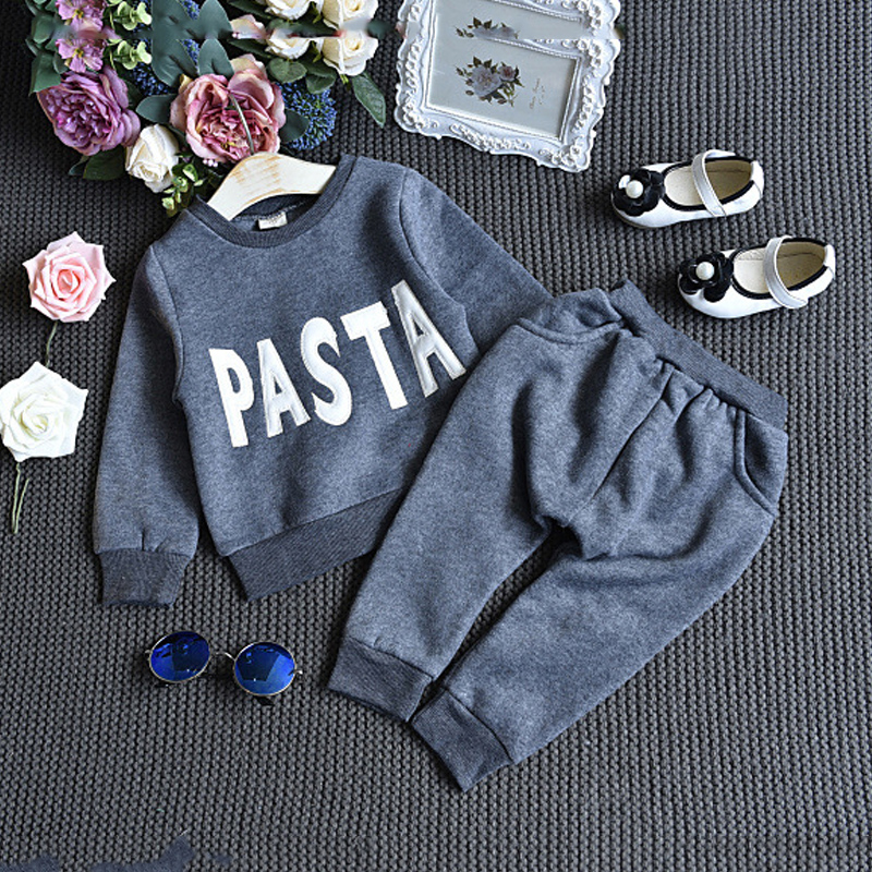 Kids Clothes Boys Clothing Sets Spring Sports Suits Letter Print Sweatshirts+Pants Children Girls Outfits Costume Long Sleeves