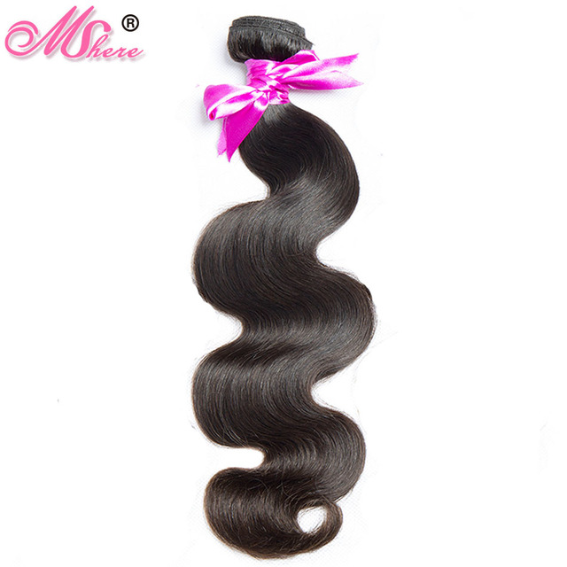 Mshere Hair Brazilian Body Wave Remy Hair Extension Can Be Dyed