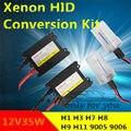 xenon hid conversion kit 35W H1 H3 H7 H8 H10 H11 H9 H11 H13 9005 9006  lamp with silm ballast blocks for car headlight