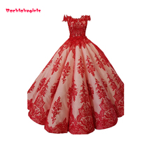 Backlakegirls Vintage Ball Gowns Wedding Dress Red Classic