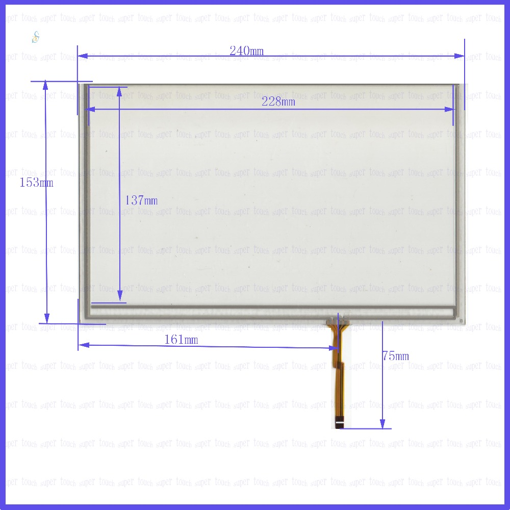 цены ZhiYuSun  240mm*153mm NEW  10.4inch Touch Screen 4 wire resistive USB touch panel overlay kit   240*153this is compatible