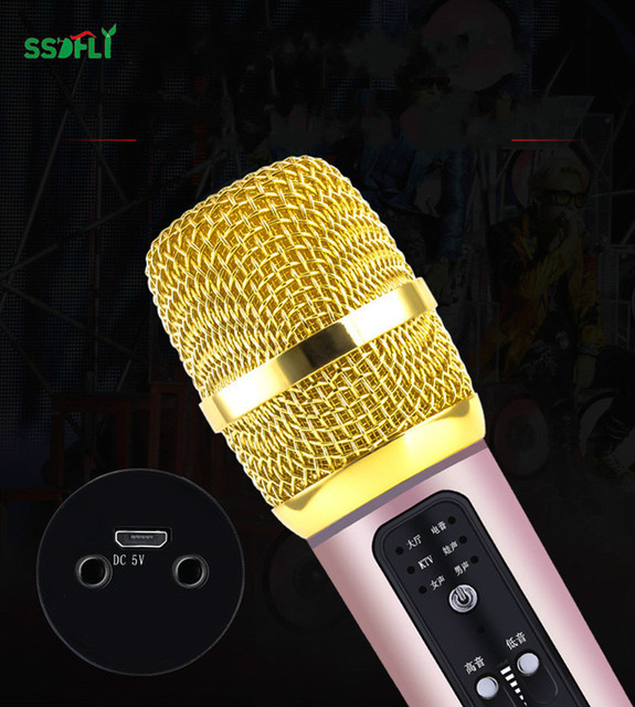 US $19 99 40% OFF C13 mobile phone singing all the people K song DSP  microphone quick handsome mobile phone microphone-in Microphones from  Consumer