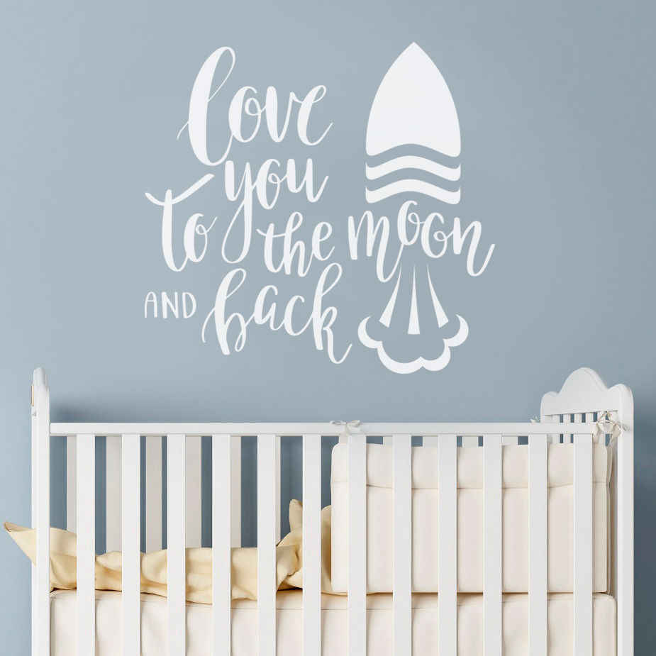 Removable Art Quote Wall Sticker Decal Mural Kids Baby Nursery Room Switch Decor
