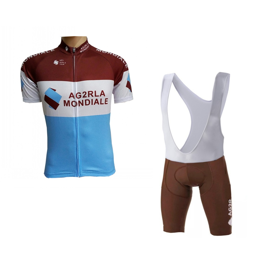 more choices 2018 pro team AG2R cycling jersey sets breathable mens summer bike cloth MTB Ropa Ciclismo Bicycle maillot gel pad