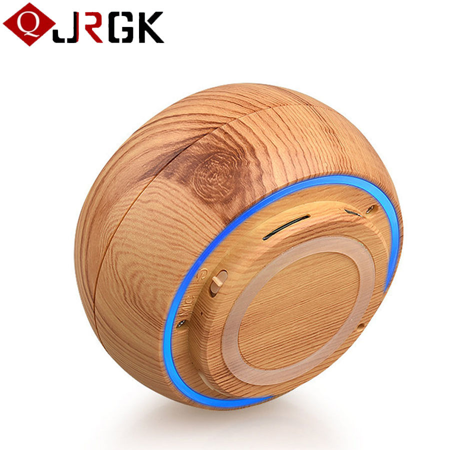 JRGK Wooden Wood Wireless Bluetooth Speaker Portable Hands-free With Microphone Speakers Boombox Support TF Card MP3 Music Play