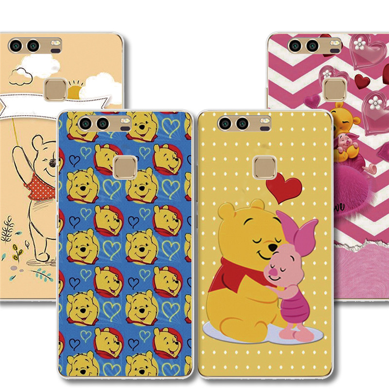 For Huawei Honour P8 P9 P10 Lite P7 Mate 7 8 9 P9 Plus p10lite Winnie the pooh Bear design Phone case plastic protective cover