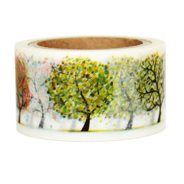 1 Roll High Quality 25mmx7m  Tree Pattern Japanese Washi Decorative Adhesive Tape DIY Masking Paper Tape Sticker Free shipping