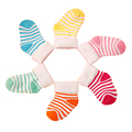 6 pairs /1 lot autumn winter 2016 new high-quality cotton striped warm baby socks 0-2 year baby boy / girls socks