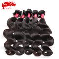 Ali Queen Hair Products Wholesale Brazilian Hair Extension Body Wave 10Pcs Unprocessed Brazilian Virgin Hair Body Wave 6A Grade