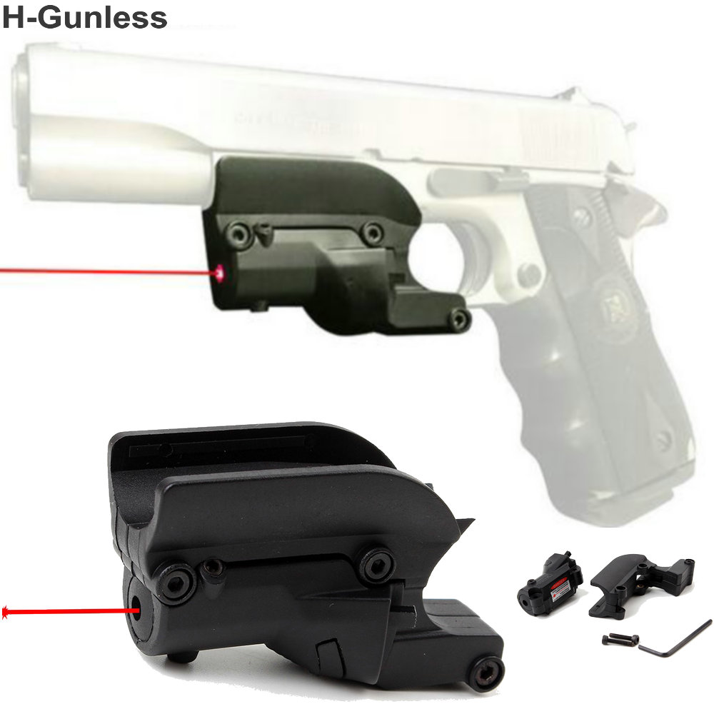 Tactical Hunting 5mw Red Laser Sight Scope Red Dot Sight For 1911 Pistol Airsoft with Lateral Grooves Free / drop Shipping
