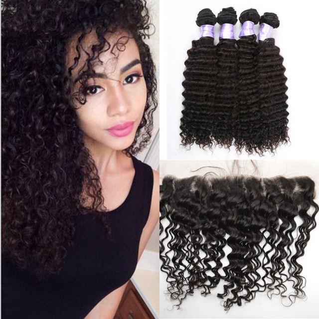 13x4 Ear To Ear Lace Frontal Closure With Hair Bundles Brazilian
