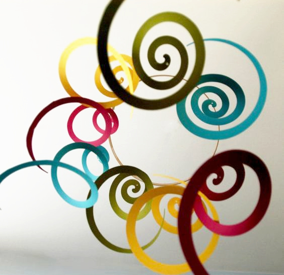 14pc/pack Ceiling Hanging Swirl Decoration Metallic Foil