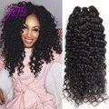 Peruvian Virgin Hair 4 Bundles Curly Weave Human Hair Peruvian Kinky Curly Virgin Hair Ali Moda Peuvian Deep Wave Curly Hair 1B