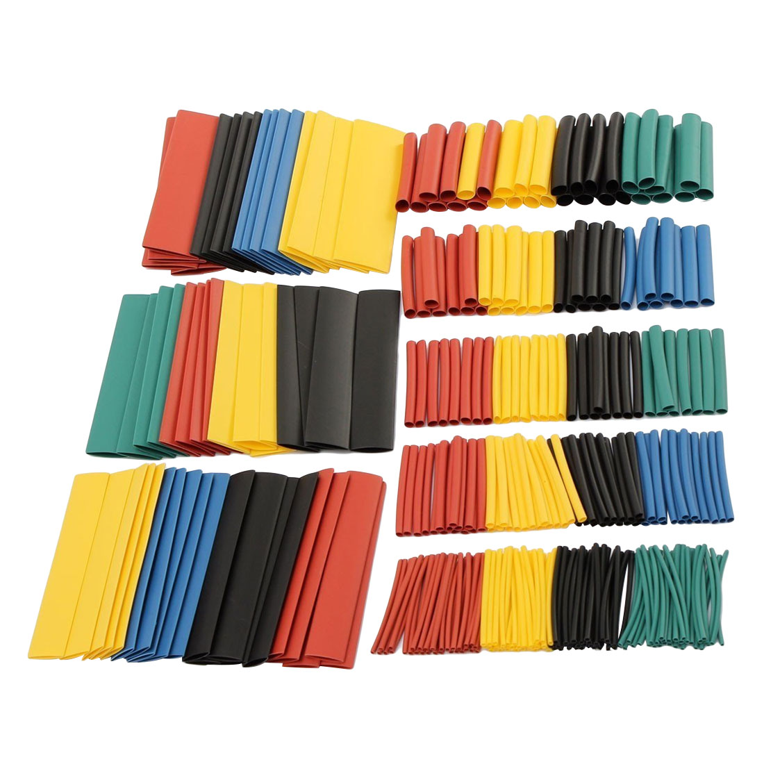 328Pcs 8 Sizes Multi Color Polyolefin 2:1 Halogen-Free Heat Shrink Tubing Tube Assortment Sleeving Wrap Tubes blue polyolefin 3 0mm x 200 meters heat shrink tubes 2 1