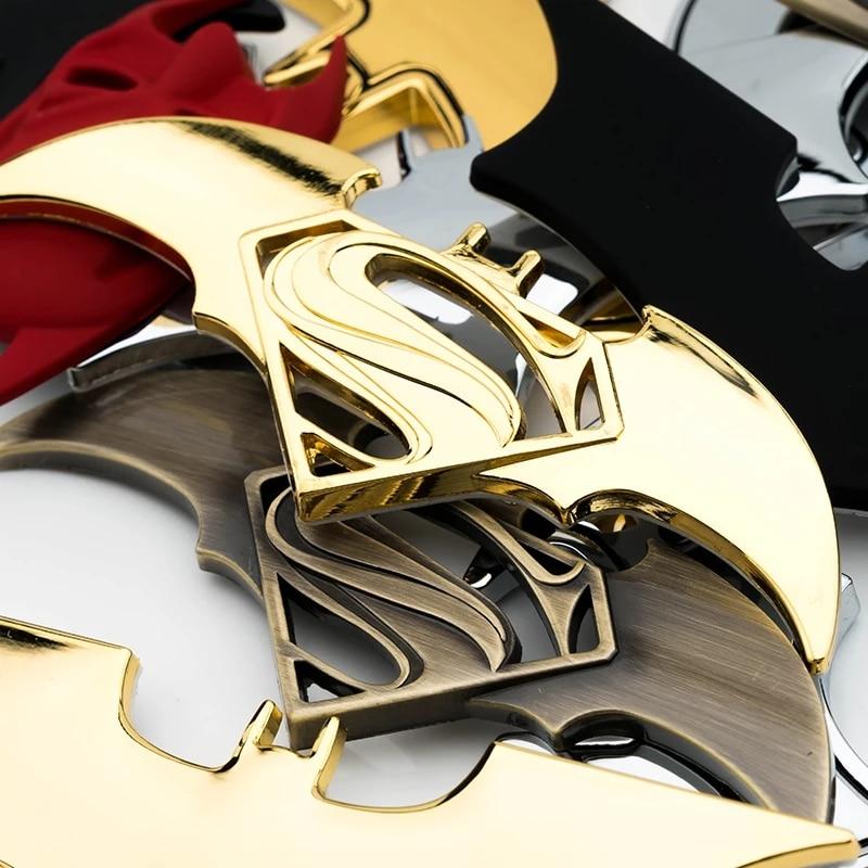 3D Superman Batman Car Metal Stickers Chrome Emblem Car Logo Motorcycle Decals Universal Car Styling For BMW Yamaha Honda