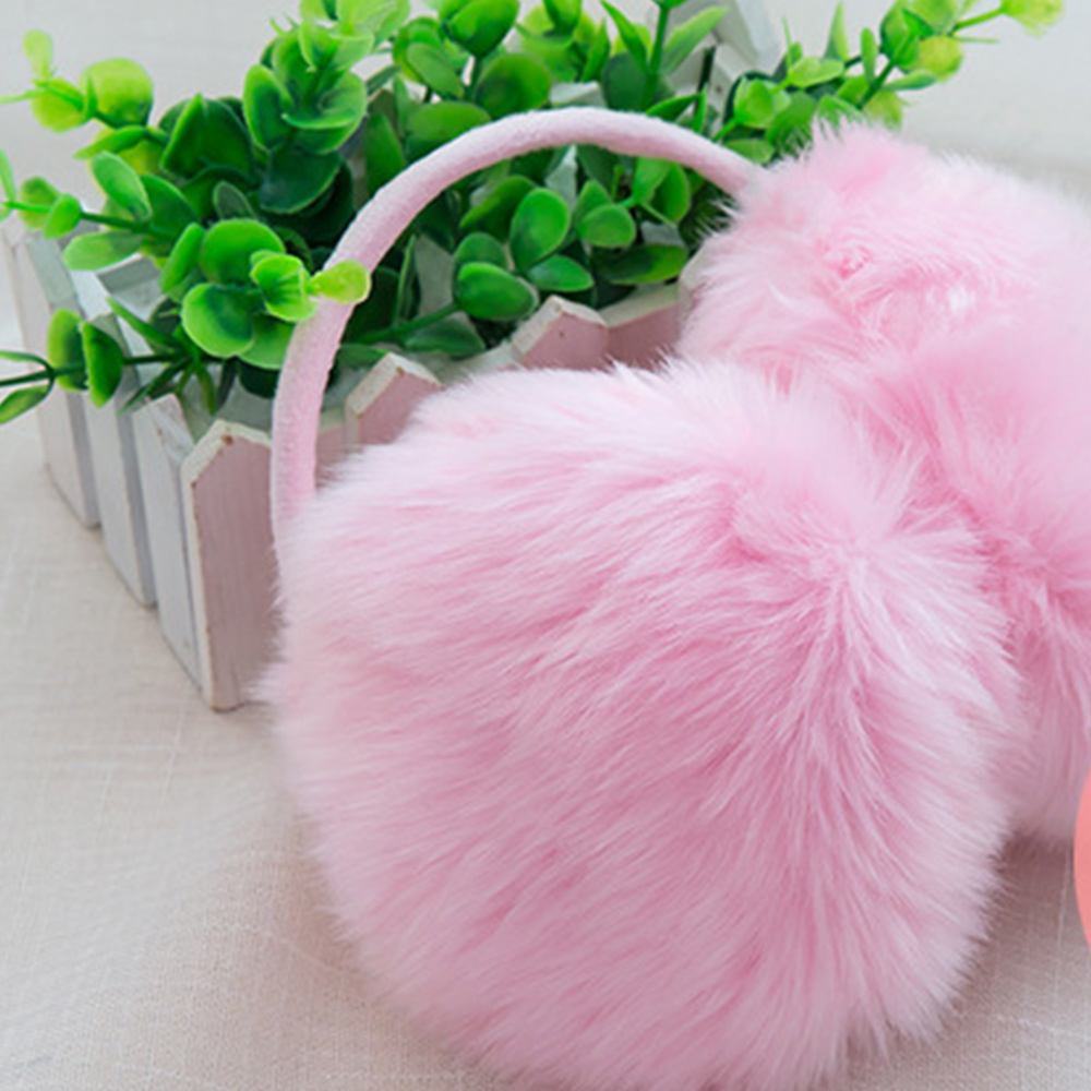 Ear Muffs Cute 6 Color Keep Warm Earmuffs Pure Faux Rabbit Fur Warmer Female Ear Cover Fashional Plush Ear-Cap Women