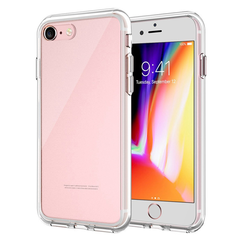 JETech Case for Apple iPhone 8 / 8Plus and iPhone 7, X Plus, Shock-Absorption Bumper Cover, Anti-Scratch Clear Back, HD Clear