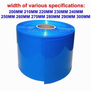 1m PVC heat shrinkable tube 18650 26650 lithium battery skin package shrink sleeve insulation(China)