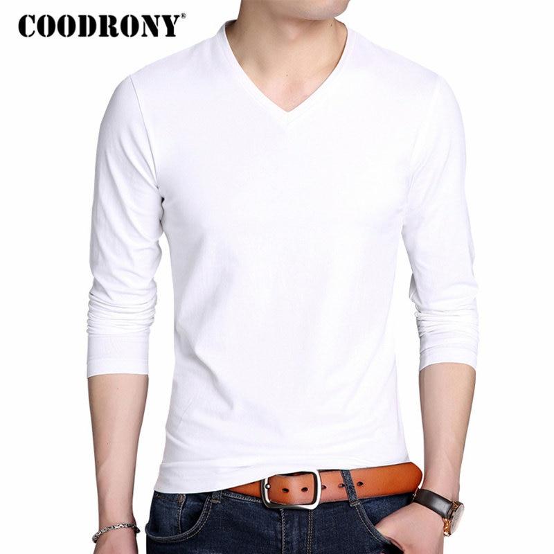 COODRONY कपास टी शर्ट पुरुषों 2018 - पुरुषों के कपड़े