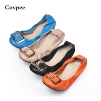Genuine Leather Spring Autumn Summer Woman Shoes With A Sweet Flat Tip Shoes Casual Square Toe