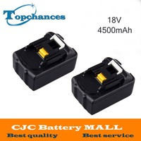 2PCS 4500mAh New Rechargeable Li Ion Replacement Power Tool Battery For Makita 18V BL1830 BL1840 LXT400