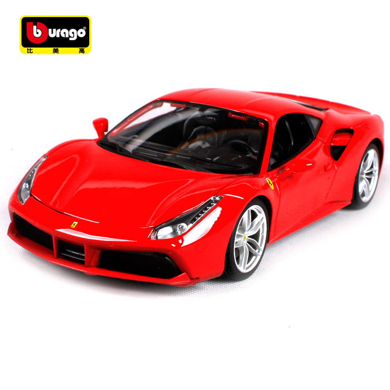 Bburago 1:18 458 Spide 488 GTB F50 348TS FXXK California Sports Car Diecast Model Racing Car Toy New In Box Free Shipping 16008 bburago 1 18 458 alloy supercar model favorites model