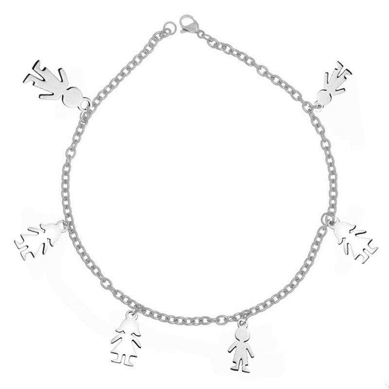 Мама браслет персонализированные для маленьких девочек мальчик браслет Нержавеющаясталь Индивидуальные дети браслет подарок для мамы/те...