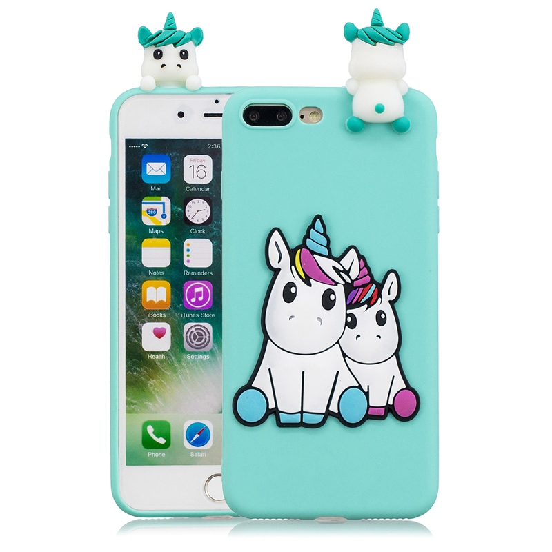 Capinha For Iphone 7 Case On For Iphone 5 5S Se Covers 3D Unicorn ...