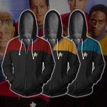 6cafae3a25 Star Trek filme Cosplay Traje Robert Abril Anime Moletom Com Capuz Da  Camisola Jaqueta Casacos Homens