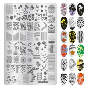 1pc Nail Art Stamping Plates Christmas Bell Halloween Pumpkin Constellations Scorpion Lace Flower Plate for Manicure Stencil New