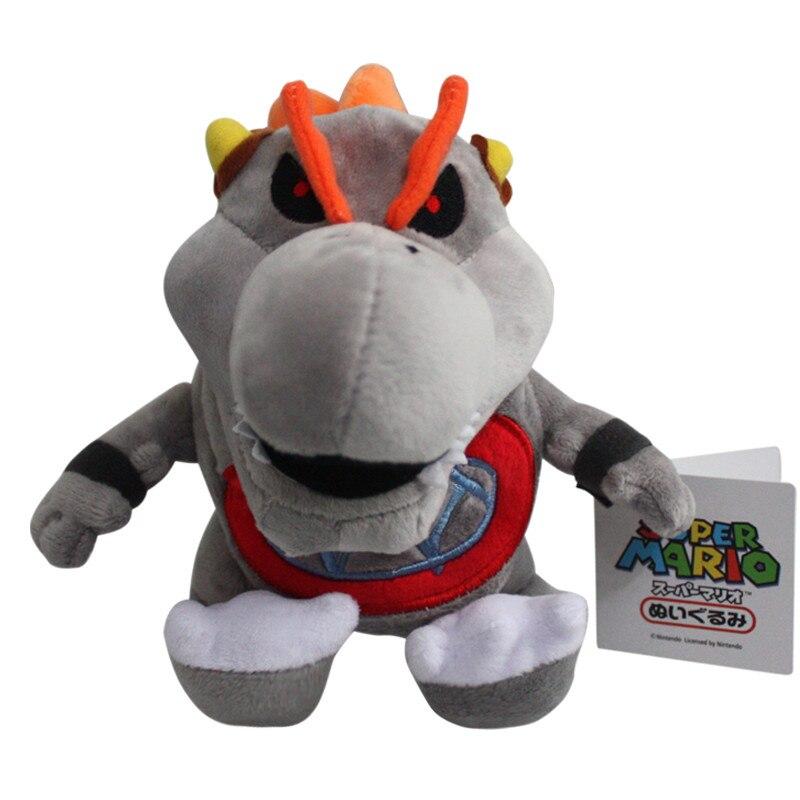 5Pcs/Lot Super Mario Bros Gray Bones Bowser Jr Plush Toy Koopa Baby BB Plush Toys Stuffed Soft Dolls Great Gift 18cm
