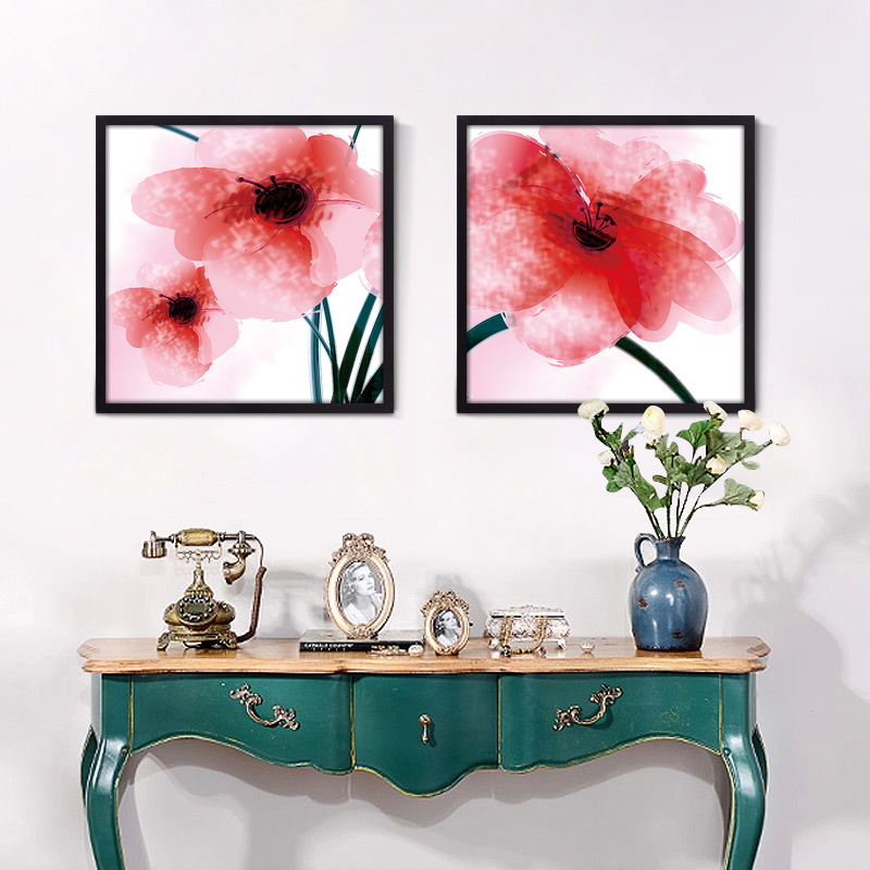 Hot Sell Style Triptych Art Watercolor Printing Poster Wall Pictures Decorative Painting Modern Living Room Home Decor No Frame