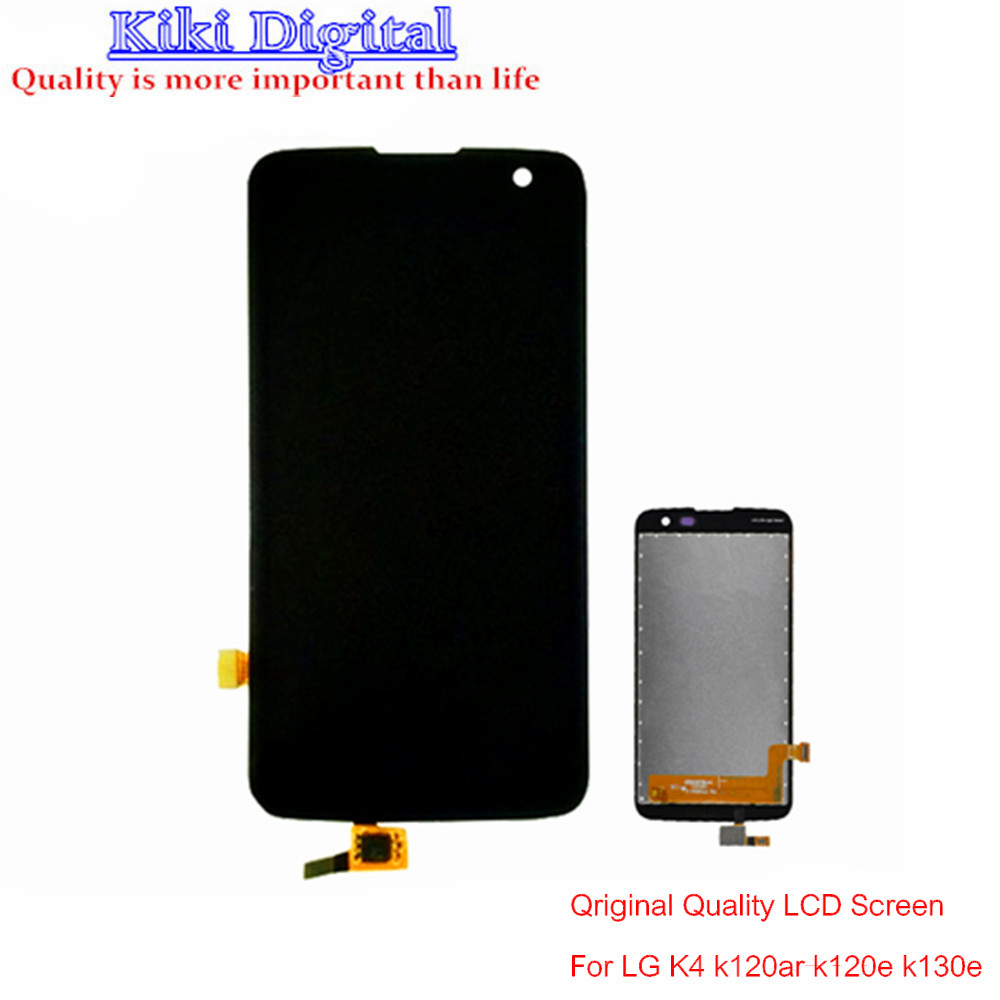 WOJOQ Original Quality For LG K4 LTE K120AR K120E K121 K130E LCD screen with touch screen components free shipping