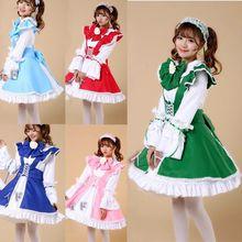 Adultos dulce japonés maid dress cosplay traje de mucama sexy lolita dress s-3xl siz