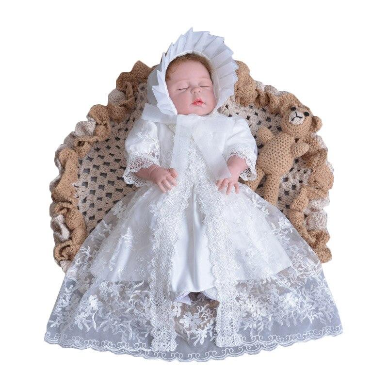 Newborn Girls Baby Dress Birthday Lace Soft Cute Girls Skrit Set Soft Dress+Headband+Coat 3 Pcs Infant Bebe Fashion New Outfits