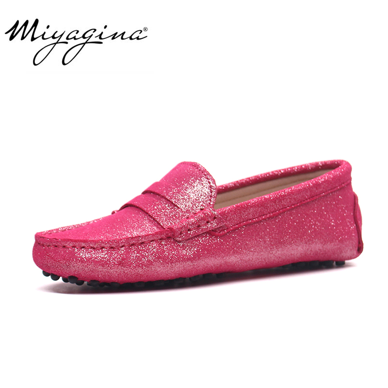 Hot Sale 100% Genuine Leather Women Shoes Spring Summer High Quality Flats Driving Shoes Brand Women Loafers
