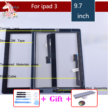 original For ipad 3 Touchscreen A1403 A1416 A1430 Touch Screen Digitizer With Home Button Assembly For ipad 3 touch panel цены