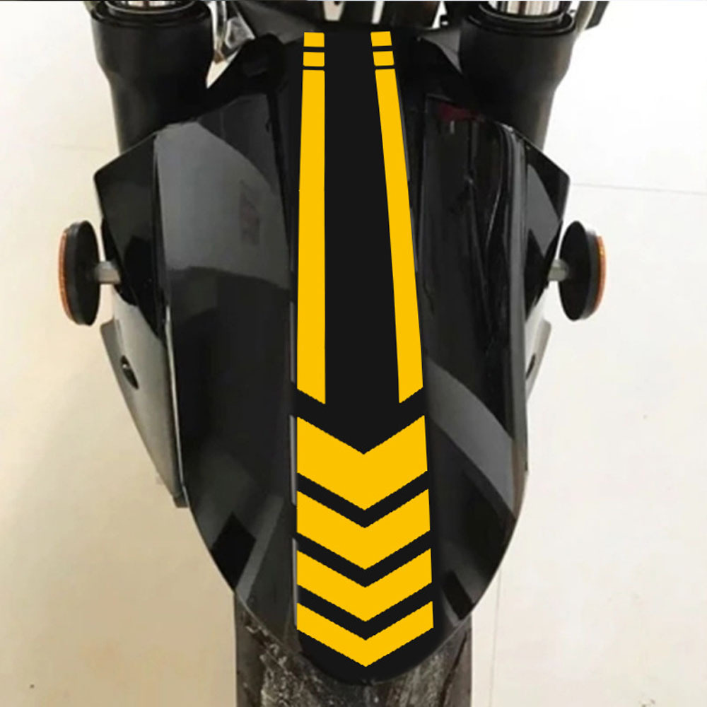Motorcycle Fender Car Stickers 2019 New Reflective Arrow Line Warning Sticker Electric Car Sticker White Motorcycle Accessories