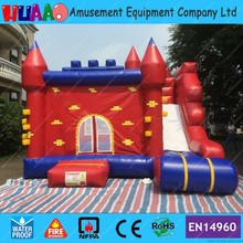Red Brick Wall Inflatable Bouncer Castle Combo with Slide