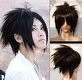 Anime Naruto Uchiha Sasuke Cosplay Peluca Negro Pelo Sintético Corto Hombres Baratos Pelucas Del Traje Envío gratis