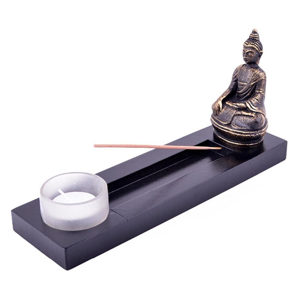 Feng Shui ZEN Bahçeli Budda Tealight Tütsü Ləkəsi - Ev dekoru - Fotoqrafiya 1