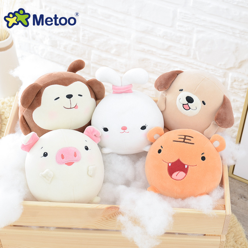 Kawaii Plush Stuffed Animal Cartoon Kids Toys for Girls Children Baby Birthday Christmas Gift Rabbit Tiger Monkey Pig Metoo Doll plush pig pillow cute animal soft stuffed plush toys for children kawaii pig peluches de animales for kids birthday gift 70c0024