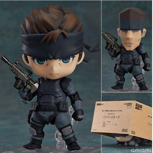 Nendoroid Metal Gear Solid SONS OF LIBERTY 447 Solid Snake Cartoon Anime Action Figure PVC Collection toys for christmas gift metal gear solid action figure sons of liberty figma 298 soldier pvc toy 16cm anime games figures snake collectible model doll