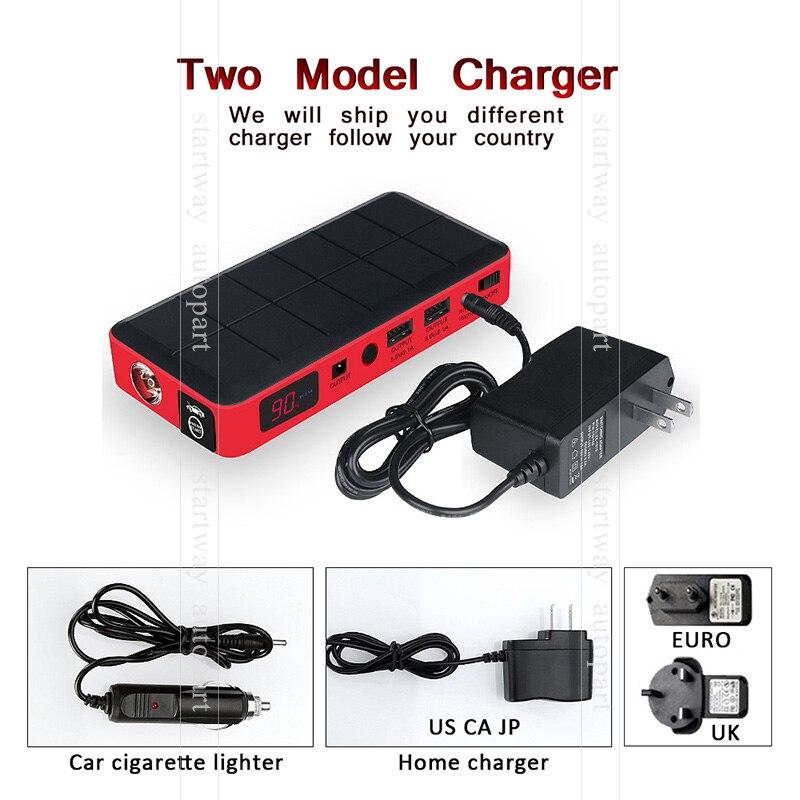 Car Starting System 26000 mAh 12V Mini Portable Power Bank Car Starter Emergency power for Car + Plastic Carry Case bailey 26000 logue
