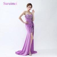 Free Shipping Real Picture Light Purple Prom Dresses 2017 Vestido Longo De Festa Formatura Prom Dress