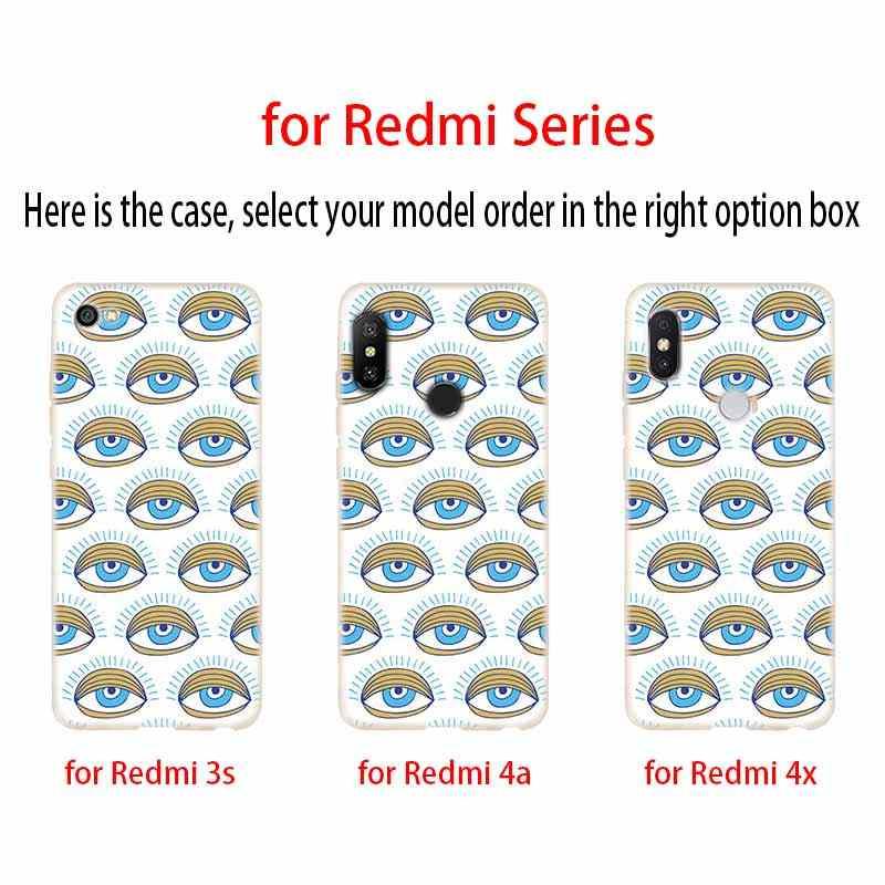 Folha de ouro olho do mal em rubor cobertura TPU Caso Silicone suave Para Xiaomi Redmi 3 4X 4a 5 Além de 7a 5a 6a S2 6 Nota 5 6 4 7 5 K20 Pro