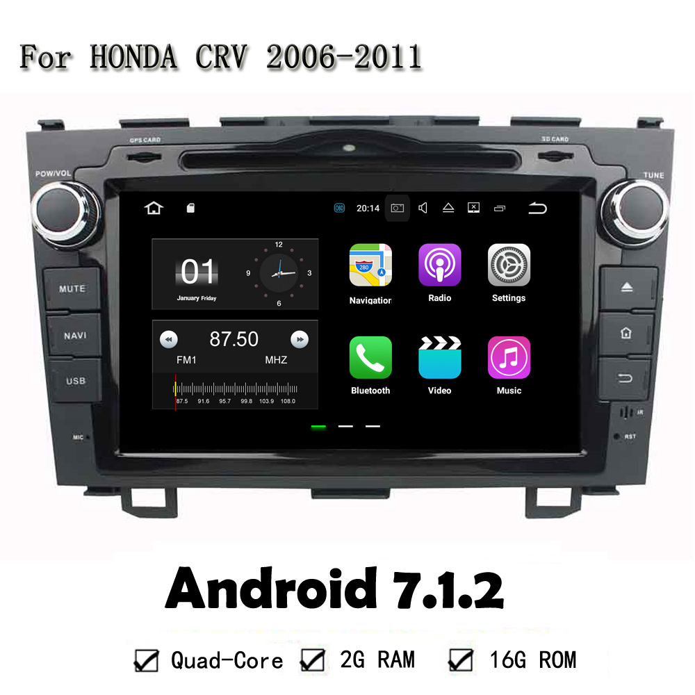 Quad Core RAM 2G ROM 16G Android 7 1 2 For Honda CRV 2006 2011Car DVD