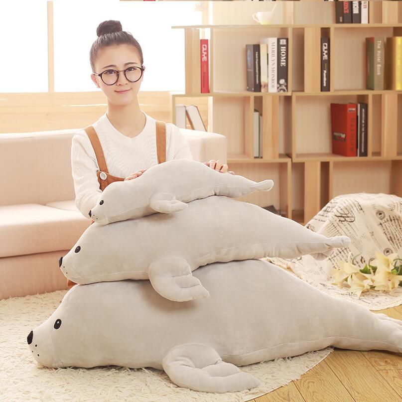 Big Size Seal Doll Stuffed Animal Creative Pillow Sea Lions Plush Toy Children Birthday Gift сотовый телефон doogee x5 max white