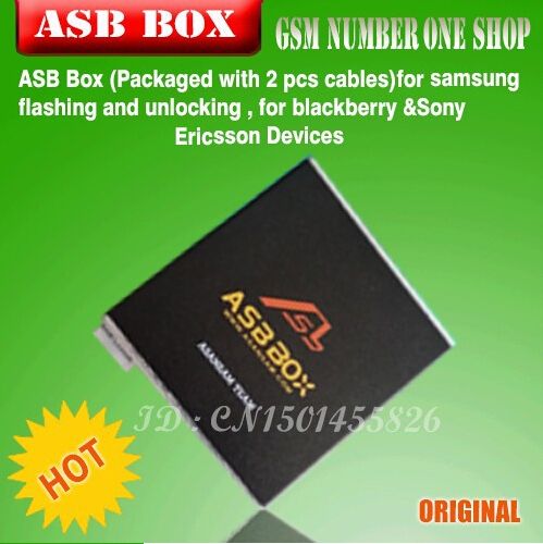 2016 vesion ASB BOX / AsanSam Box for samsung flash & unlock , for blackberry &Sony Ericsson +2 cables+ for huawei activation